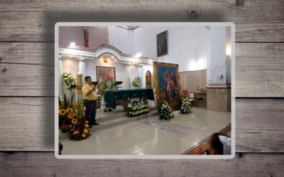 Recepción del cuadro de San Rafael Arcángel