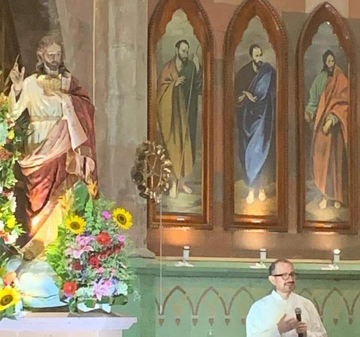 La parroquia del Sagrado Corazón de Jesús en Río Blanco celebra hoy su fiesta patronal