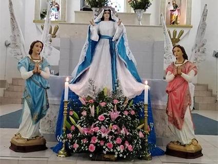 Festejan a nuestra Señora de la   Asunción en Barrio Nuevo
