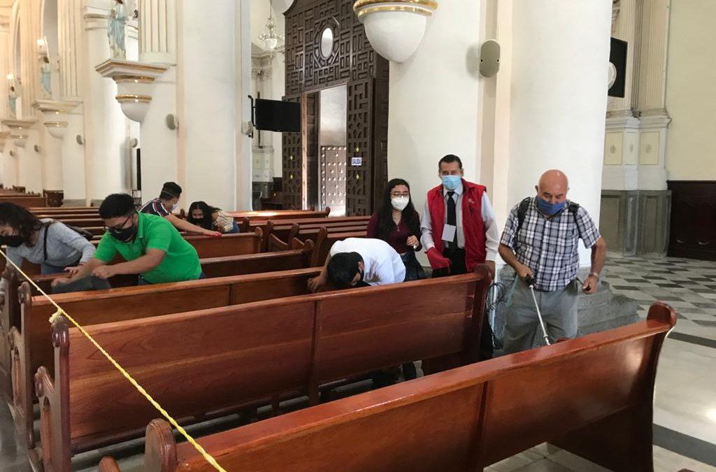 Desinfectan constantemente templos para garantizar salud de fieles